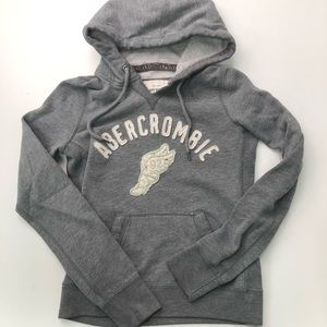 Abercrombie & Fitch Gray Pullover Hoodie Size L